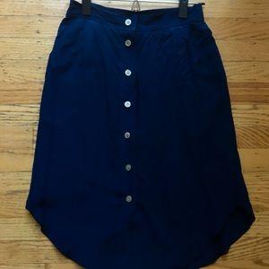 Madewell Button Up Skirt